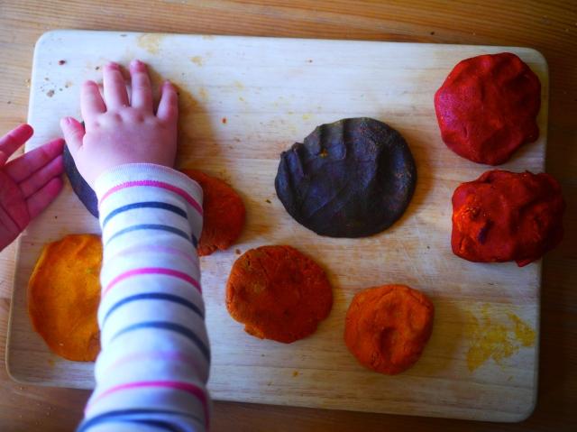 autumn salt dough leaves