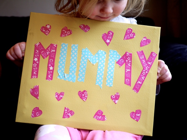 mother's day easy canvas DIY